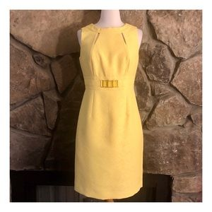 Tahari Ultra Mod Look Bright Yellow Dress, Size 4
